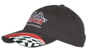 Headwear-Headwear Brushed Cotton with Swoosh & Check Embroidery Cap--Uniform Wholesalers - 1