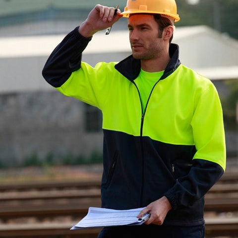 Bocini-Bocini Hi-Vis Polyester Fleece with Full Zip--Uniform Wholesalers - 1