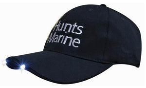 Headwear-Headwear Brushed Heavy Cotton with Led Lights in Peak Cap--Uniform Wholesalers - 1