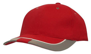 Headwear Brushed Heavy Cotton with Reflective Trim & Tab on Peak Cap (4214)