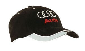 Headwear-Headwear Brushed Heavy Cotton with Reflective Trim & Tab on Peak Cap--Uniform Wholesalers