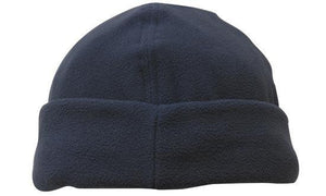 Headwear-Headwear Mirco Fleece Beanie - Toque Cap-Navy / Free Size-Uniform Wholesalers - 5