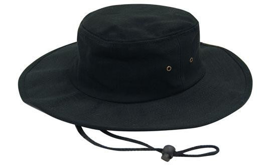 Headwear-Headwear Brushed Heavy Cotton Hat-Black / S-Uniform Wholesalers - 2