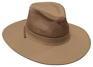 Headwear-Headwear Safari Cotton Twill & Mesh Hat-Sandstone / S-Uniform Wholesalers - 4