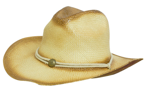 Headwear Sprayed Cowboy Straw (4281)