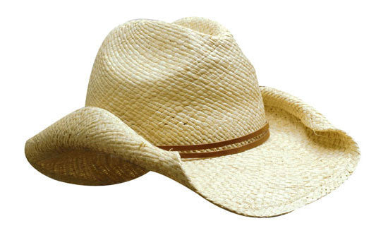 Headwear-Headwear Ladies Cowboy Straw Cap--Uniform Wholesalers