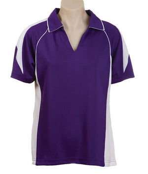 Australian Spirit-Aus Spirt Olympikool Ladies Polo 3rd ( 5 Colour )-Purple/White / 8-Uniform Wholesalers - 6