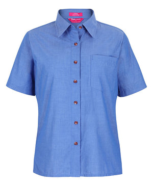 JB's Ladies S/S Indigo Chambray  Shirt (4LICS)