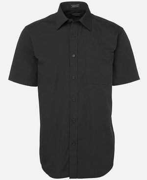 JB's Wear-JB's Poplin Gents Shirt-Black S/S / S-Uniform Wholesalers - 3