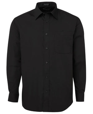 JB's Wear-JB's Poplin Gents Shirt-Black L/S / S-Uniform Wholesalers - 4