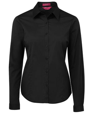 JB's Wear-JB's Ladies Urban L/S Poplin Shirt-Black / 6-Uniform Wholesalers - 1