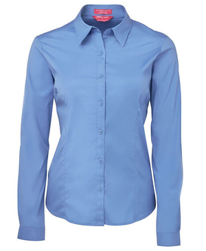 JB's Wear-JB's Ladies Urban L/S Poplin Shirt-French Blue / 6-Uniform Wholesalers - 5