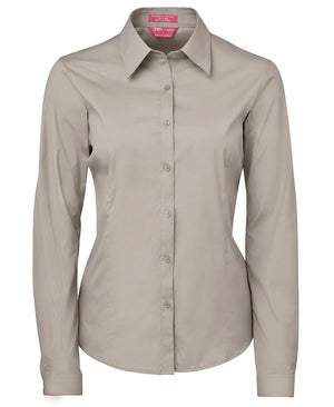 JB's Wear-JB's Ladies Urban L/S Poplin Shirt-Bone / 6-Uniform Wholesalers - 3