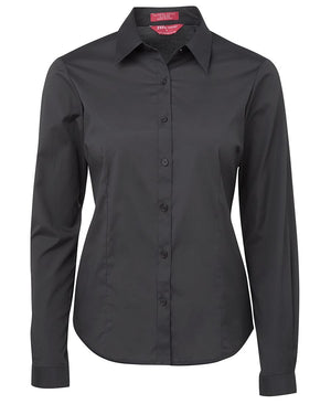 JB's Wear-JB's Ladies Urban L/S Poplin Shirt-Charcoal / 6-Uniform Wholesalers - 4