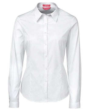 JB's Wear-JB's Ladies Urban L/S Poplin Shirt-White / 6-Uniform Wholesalers - 6