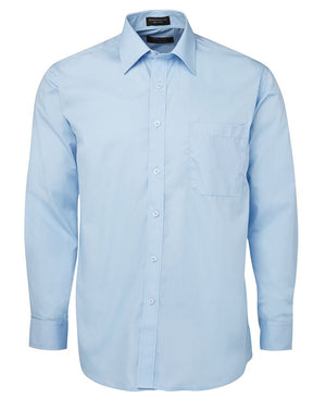 JB's Wear-JB's Poplin Gents Shirt-LT Blue L/S / S-Uniform Wholesalers - 6