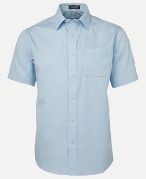 JB's Wear-JB's Poplin Gents Shirt-LT Blue S/S / S-Uniform Wholesalers - 5