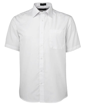 JB's Wear-JB's Poplin Gents Shirt-White S/S / S-Uniform Wholesalers - 7