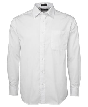 JB's Wear-JB's Poplin Gents Shirt-White L/S / S-Uniform Wholesalers - 8
