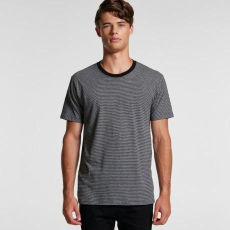 Ascolour Mens Line Strip Tee - (5042)