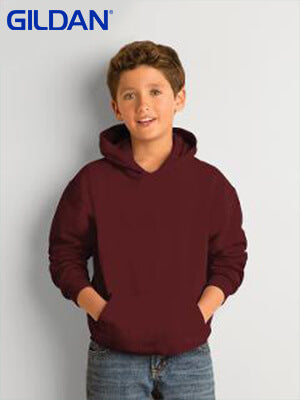 Gildan  Youth 50/50 Hooded Sweatshirt-(18500B)