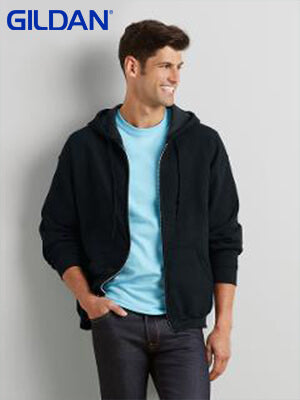Gildan  Adult  Zip Hooded Sweatshirt-(18600)