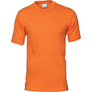 DNC Workwear-DNC Adult 190gsm Combed Cotton Jersey Tee-Orange / S-Uniform Wholesalers - 6