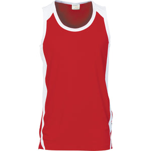 DNC Workwear-DNC Kids Cool-Breathe Contrast Singlet-Red/White / 4-Uniform Wholesalers - 6