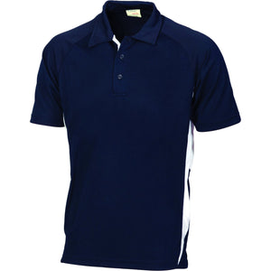 DNC Workwear-DNC Kids Cool-Breathe Side Panel Polo Shirt-4 / Navy/White-Uniform Wholesalers - 2