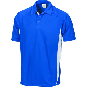 DNC Workwear-DNC Kids Cool-Breathe Side Panel Polo Shirt-4 / Royal/White-Uniform Wholesalers - 3