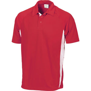 DNC Workwear-DNC Kids Cool-Breathe Side Panel Polo Shirt-6 / Red/White-Uniform Wholesalers - 6
