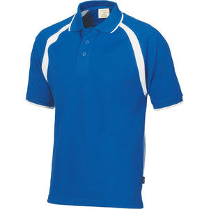 DNC Workwear-DNC Mens Poly/Cotton Contrast Raglan Panel Polo-Royal/White / S-Uniform Wholesalers - 8