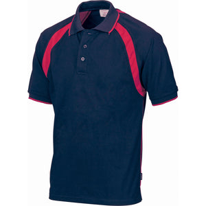DNC Workwear-DNC Kids Poly/Cotton Contrast Raglan Panel Polo-4 / Navy/Red-Uniform Wholesalers - 5