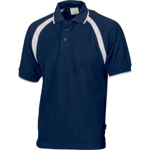 DNC Workwear-DNC Kids Poly/Cotton Contrast Raglan Panel Polo-4 / Navy/White-Uniform Wholesalers - 6