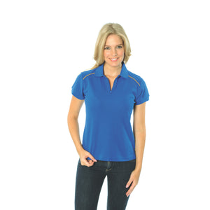 DNC Workwear-DNC Ladies Cotton Rich Paris Polo-Royal/Gold / 8-Uniform Wholesalers - 4