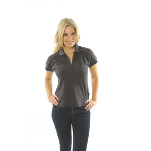 DNC Workwear-DNC Ladies Cotton Rich Paris Polo-Slate/Silver / 8-Uniform Wholesalers - 7