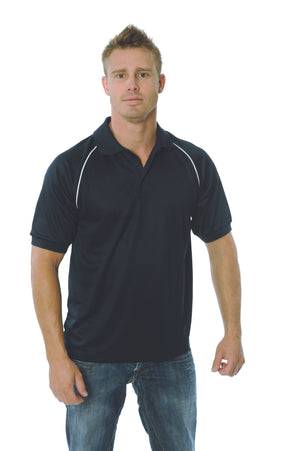 DNC Workwear-DNC Mens Cool Breathe Rome Polo-Navy/White / 2XL-Uniform Wholesalers - 3
