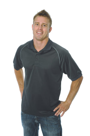 DNC Workwear-DNC Mens Cool Breathe Rome Polo-Slate / Silver Grey / L-Uniform Wholesalers - 6