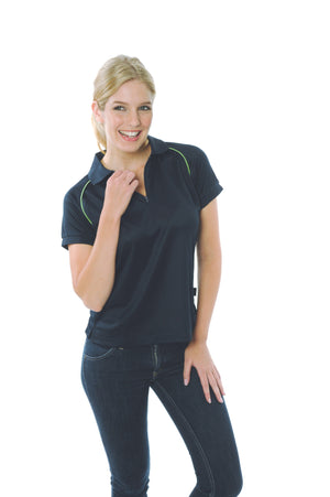 DNC Workwear-DNC Ladies Cool Breathe Rome Polo-Navy / Cool Lime / 8-Uniform Wholesalers - 4