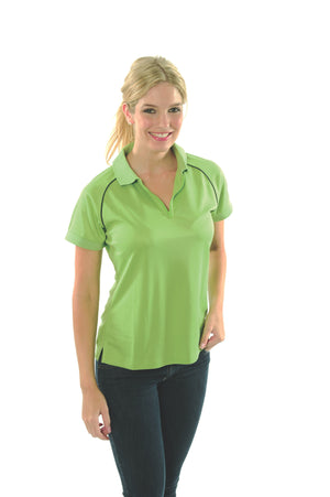 DNC Workwear-DNC Ladies Cool Breathe Rome Polo-Cool Lime/Navy / 8-Uniform Wholesalers - 8