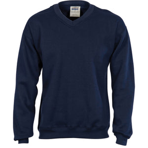 DNC Workwear-DNC Men's V-Neck Sloppy Joe > 300 gsm-XS / Navy-Uniform Wholesalers - 1