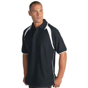 DNC Workwear-DNC Mens Poly/Cotton Contrast Raglan Panel Polo--Uniform Wholesalers - 1