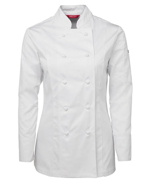JB's Wear-JB's Ladies L/S Chef's Jacket-White / 6-Uniform Wholesalers - 2