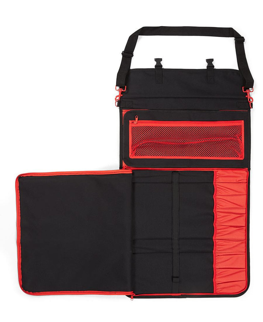 JB's Wear-JB Chef's Deluxe Large Knife Bag-L / BLACK/RED-Uniform Wholesalers - 2
