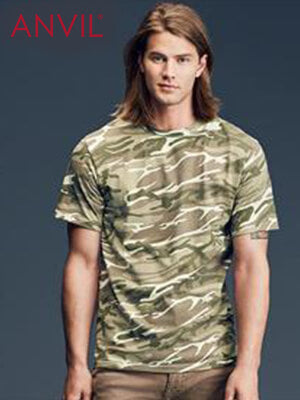 Anvil Adult Camouflage Tee (939)