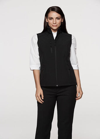 Aussie Pacific Olympus Ladies SoftShell Vest-(2515)
