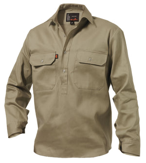 King Gee Long Sleeve Closed Front Drill Shirt (K04020)