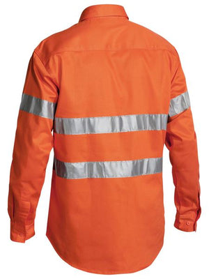 Bisley Hi Vis Closed Front Drill L/S Shirt 3M Reflective Tape (BTC6482)