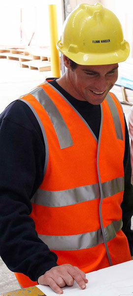 JB's Wear-JB's Hi Vis (D+N) Safety Vest - Adults--Uniform Wholesalers - 3