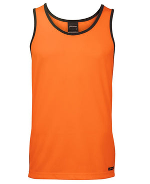 JB's Wear-JB's Hi Vis Contrast Singlet - Adults-Orange/Navy / XS-Uniform Wholesalers - 3